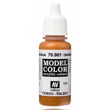 Acrylic paint Model Color (17ml) - Matt Orange Brown