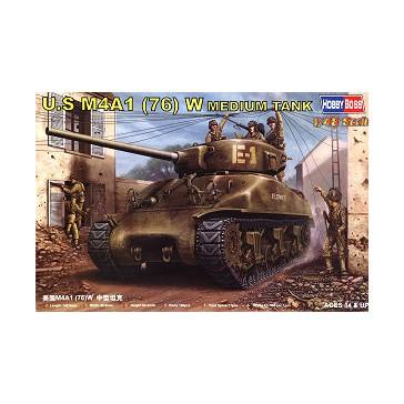 U.S M4A1 76(W) Tank 1/48