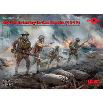 Brit.Inf.in Gas Masks '14 4fig 1/35