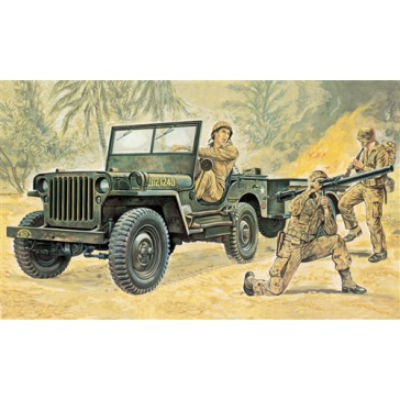 WILLYS MB JEEP WITH TRAILER 1:35