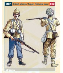 BRITISH INFANTRY / SEPOYS (COLON.WARS) 1:72 *