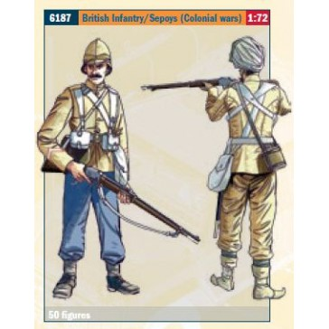 BRITISH INFANTRY / SEPOYS (COLON.WARS) 1:72 *