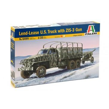 DISC.. LAND LEASE U.S. TRUCK & ZIS3 GUN 1:35