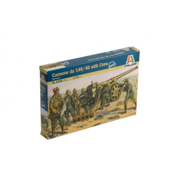WWII CANNONE DA 149/40 WITH CREW 1:72