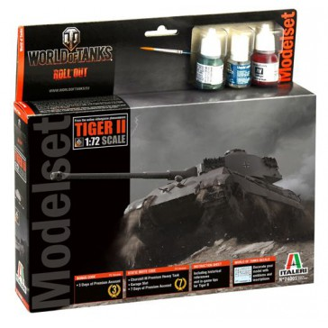 TIGER II W.O.T. MODEL SET BOX 1:72