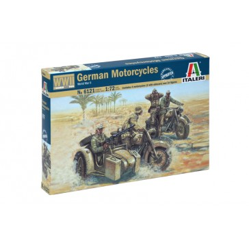 WWII GERMAN MOTORCYCLES 1:72