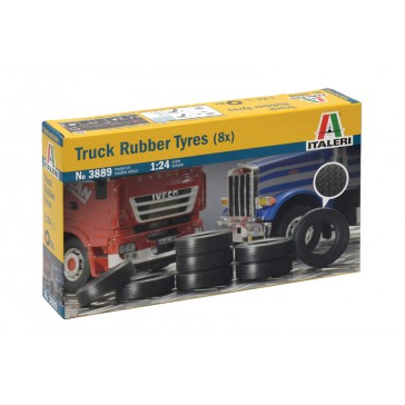 TRUCK RUBBER TYRES (8X) 1:24