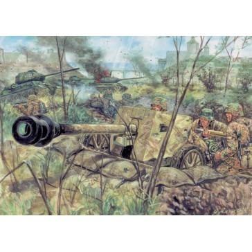 WWII GERMAN PAK40 AT GUN & CREW 1:72