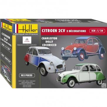 Citroën 2Cv 3 décorations 1/24