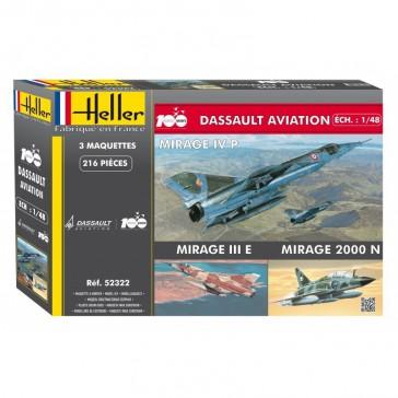DISC.. Coffret 100 Ans Dassault Avia. 1/72
