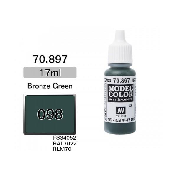 Vallejo Peinture Acrylique Model Color (17ml) - Matt Bronze Green - MCM Group