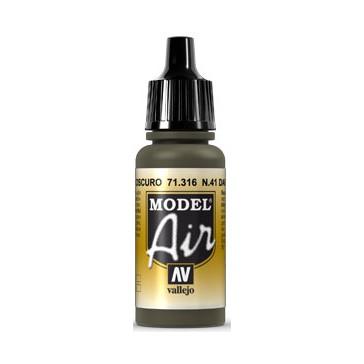 Acrylic paint Model Air (17ml)  - N41 Dark Olive Drab