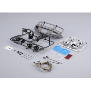 Aluminium Bumper w/LEDS Upgrade Sets Silver-grey for Traxxas TRX-4