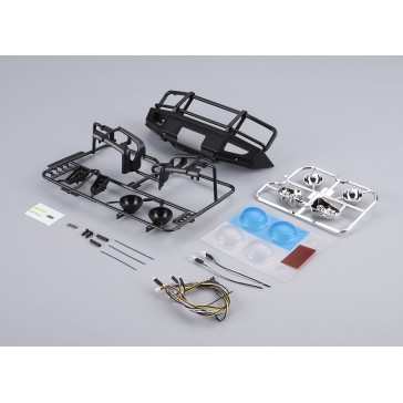 Aluminium Bumper w/LEDS Upgrade Sets Matt-black for Traxxas TRX-4