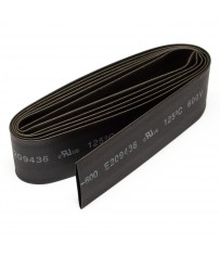 12mm thick shrink tube black - 1m