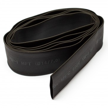 14mm thick shrink tube black - 1m