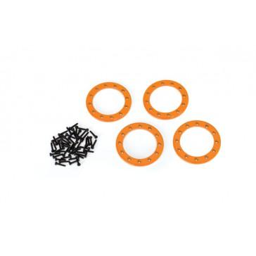 Beadlock rings, orange (1.9') (aluminum) (4)/ 2x10 CS (48)