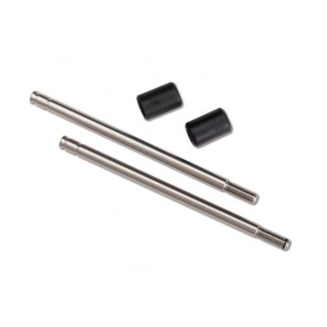 Shock shaft, 3x57mm (GTS) (2) (includes bump stops) (for use with TRX