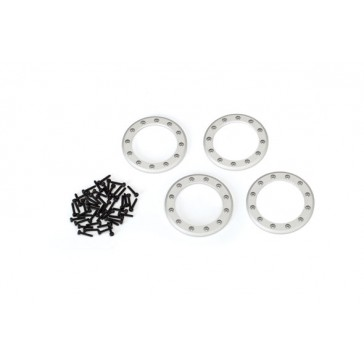 Beadlock rings, satin (1.9') (aluminum) (4)/ 2x10 CS (48)