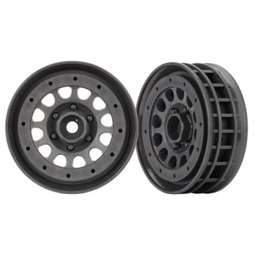 Wheels, Method 105 1.9' (charcoal gray, beadlock) (beadlock rings sol