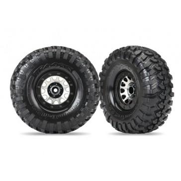 Tires and wheels, assembled (Method 105 black chrome beadlock wheels,