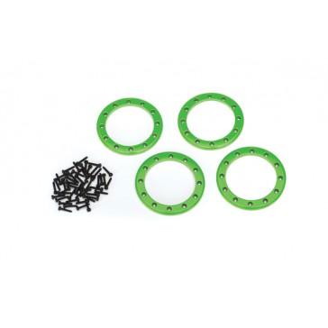 Beadlock rings, green (2.2) (aluminum)  (4)/ 2x10 CS (48)