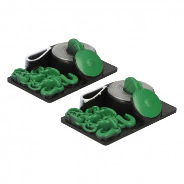 Dummy towing chains and straps (2 pcs) - Green