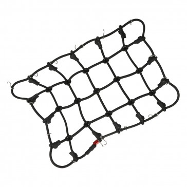 Luggage net with hooks (190 x 120 mm) - black