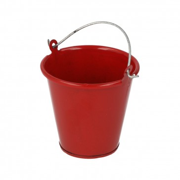 Red metal bucket