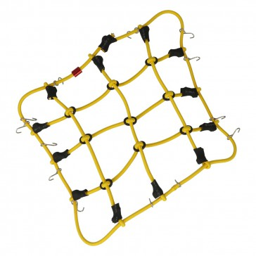 Luggage net with hooks (150 x 120 mm) - yellow