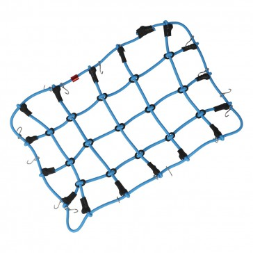 Luggage net with hooks (190 x 120 mm) - blue