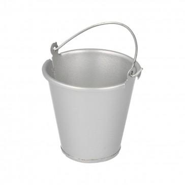 Silver metal bucket
