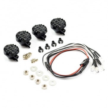 LIGHT SET w/LED,LENSES WIRE CONNECTOR 4PC - ROUND