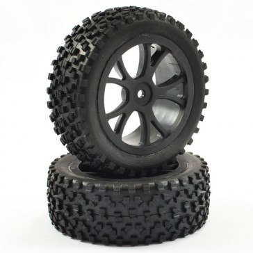 1/10TH MOUNTED CUBOID BUGGY FRONT TYRES 10-SPOKE