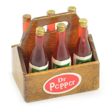 SCALE WOOD CRATE w/SOFT DRINK BOTTLES