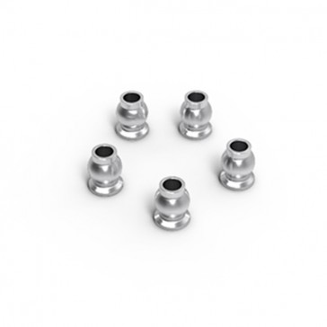 ALUMINUM SHOCK END BALL 5.8X7.3MM (SILVER) (5)