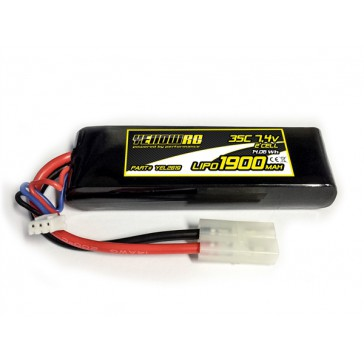 Yellow RC LiPo 1900mAh 7.4V 2S 35C , LaTrax 1/18 models