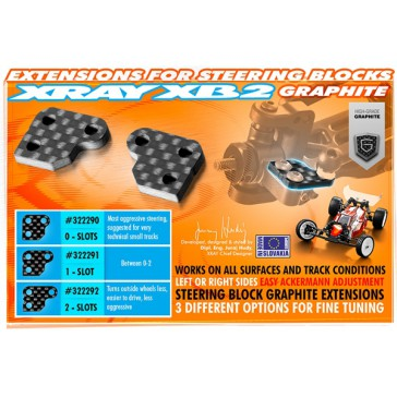 GRAPHITE EXTENSION FOR STEERING BLOCK (2) - 0 SLOTS