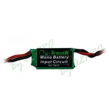 Mono-battery input circuit - Module de double alimentation récepteur