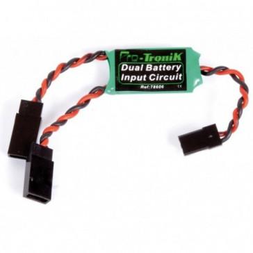 Dual-battery input circuit - Système de double alimentation récepteur