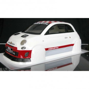 ABARTH 500 ASSETTO CORSE Painted body 1/10 (190mm) + accessories