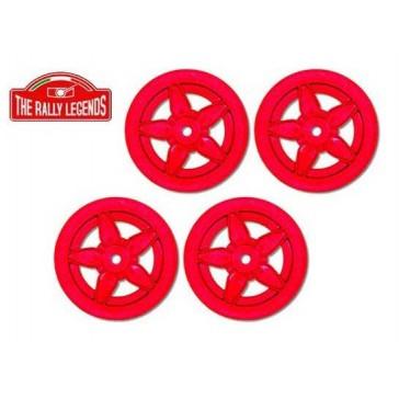 Stratos type 5 spoke red rims set