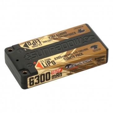 DISC.. LiPo Battery  6300mAh 130C/65C 1s Shorty Ultra LCG 4mm plug