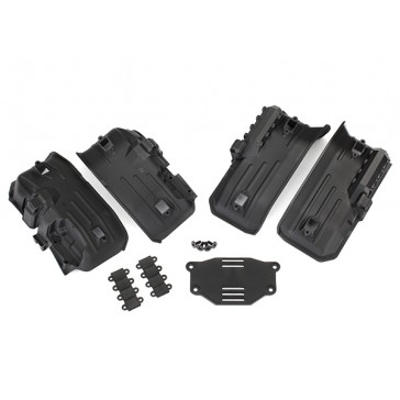 Fenders, inner, front & rear (2 each)/ rock light covers (8)/ battery