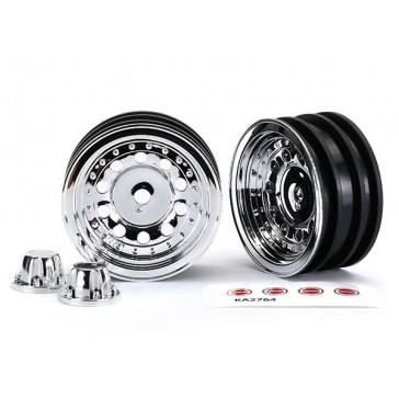 Wheels 1.9' chrome (2) center caps (2) w/decal requires n°8255A