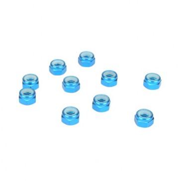 DISC.. Ecrou Nylstop Alu 5mm, Bleue (10)