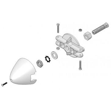 Plateau, support de pales et cone 4,0 mm FunGlider