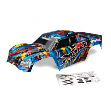 Body, X-Maxx, Rock n' Roll (painted, decals applied) (assembled with
