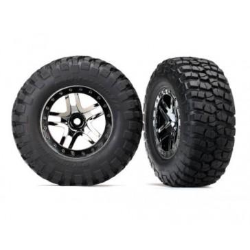 Tires & wheels, assembled, glued (SCT Split-Spoke black chrome beadlo