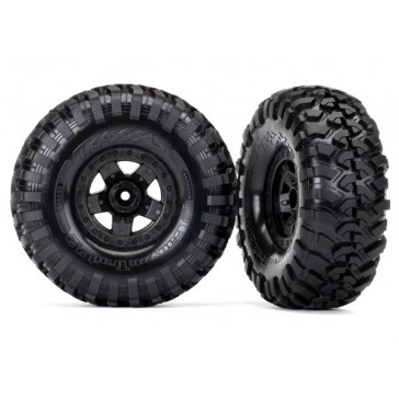 Tires and wheels, assembled, glued (TRX-4 Sport wheels, Canyon Trail